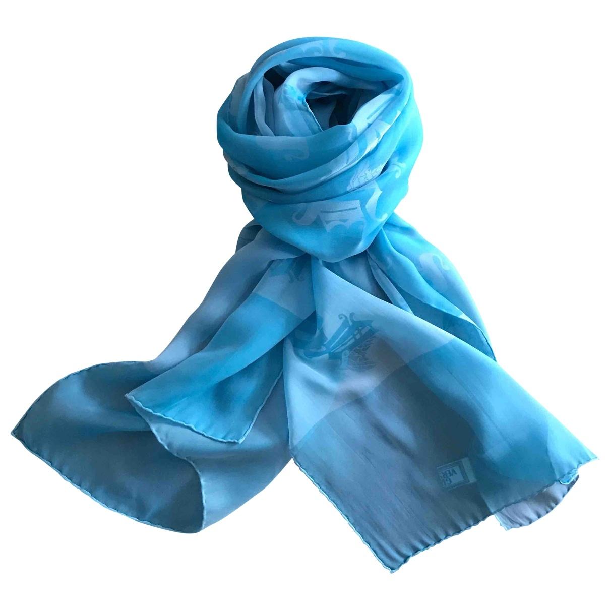 Versace \N Schal in  Blau Seide