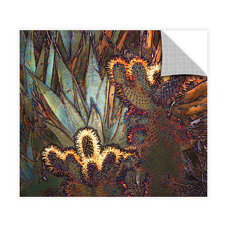 Borrego Cactus Patch Removable Wall Decal, One Size , Green