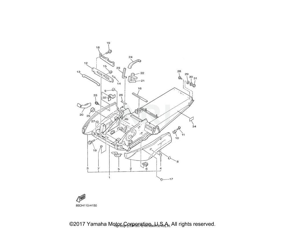 Yamaha OEM 80F-21989-00-00 PATCH 9