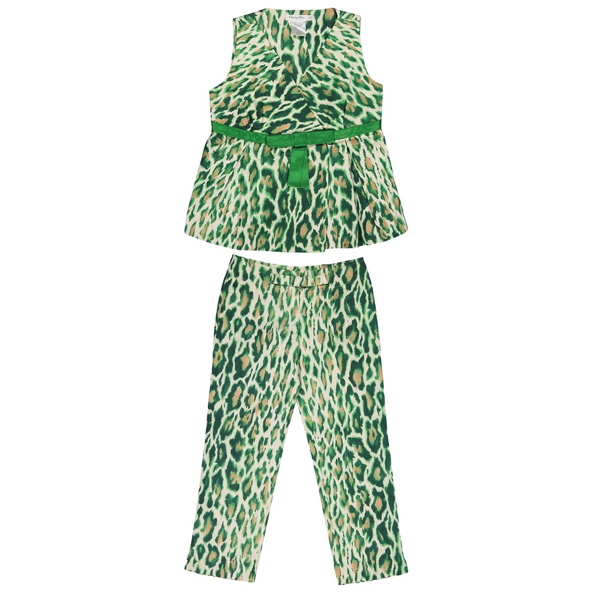 Christian Dior \N Green Silk  top for Women 42 FR