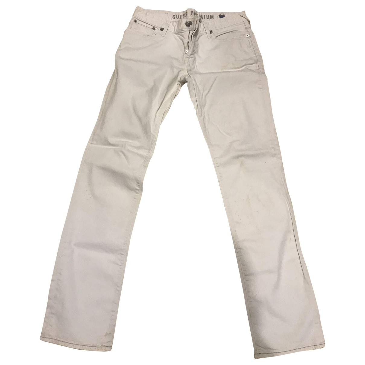 Guess \N White Cotton Jeans for Men 32 US