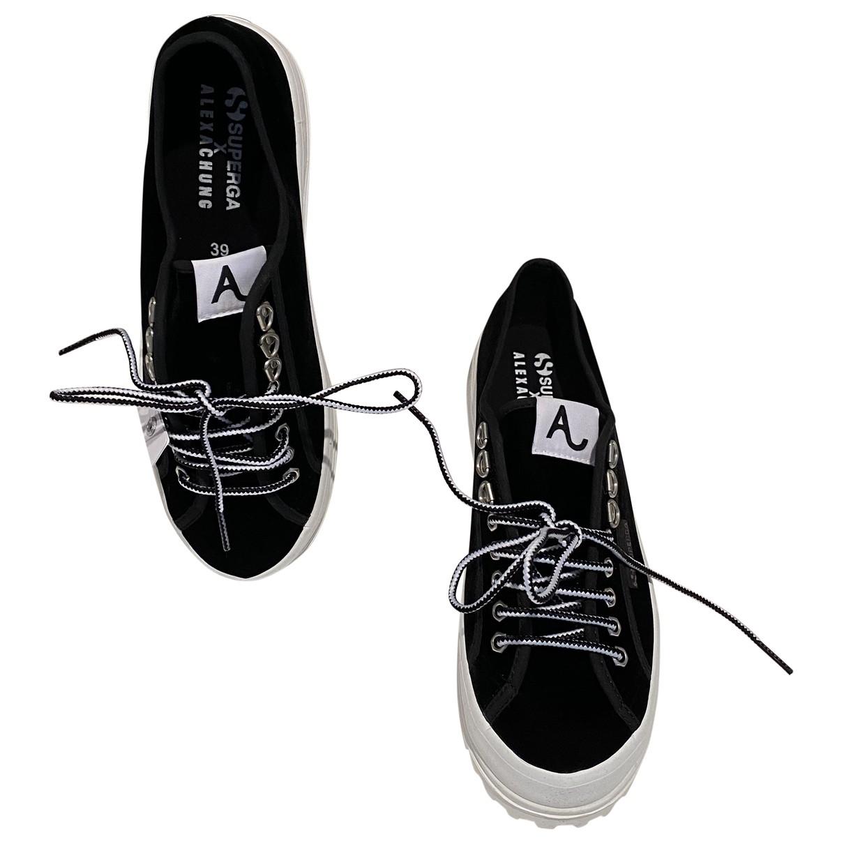 Alexa Chung \N Sneakers in  Schwarz Samt