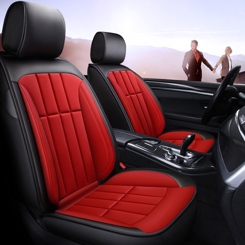 All Seasons PU Leather Simple Style Universal Fit Seat Covers