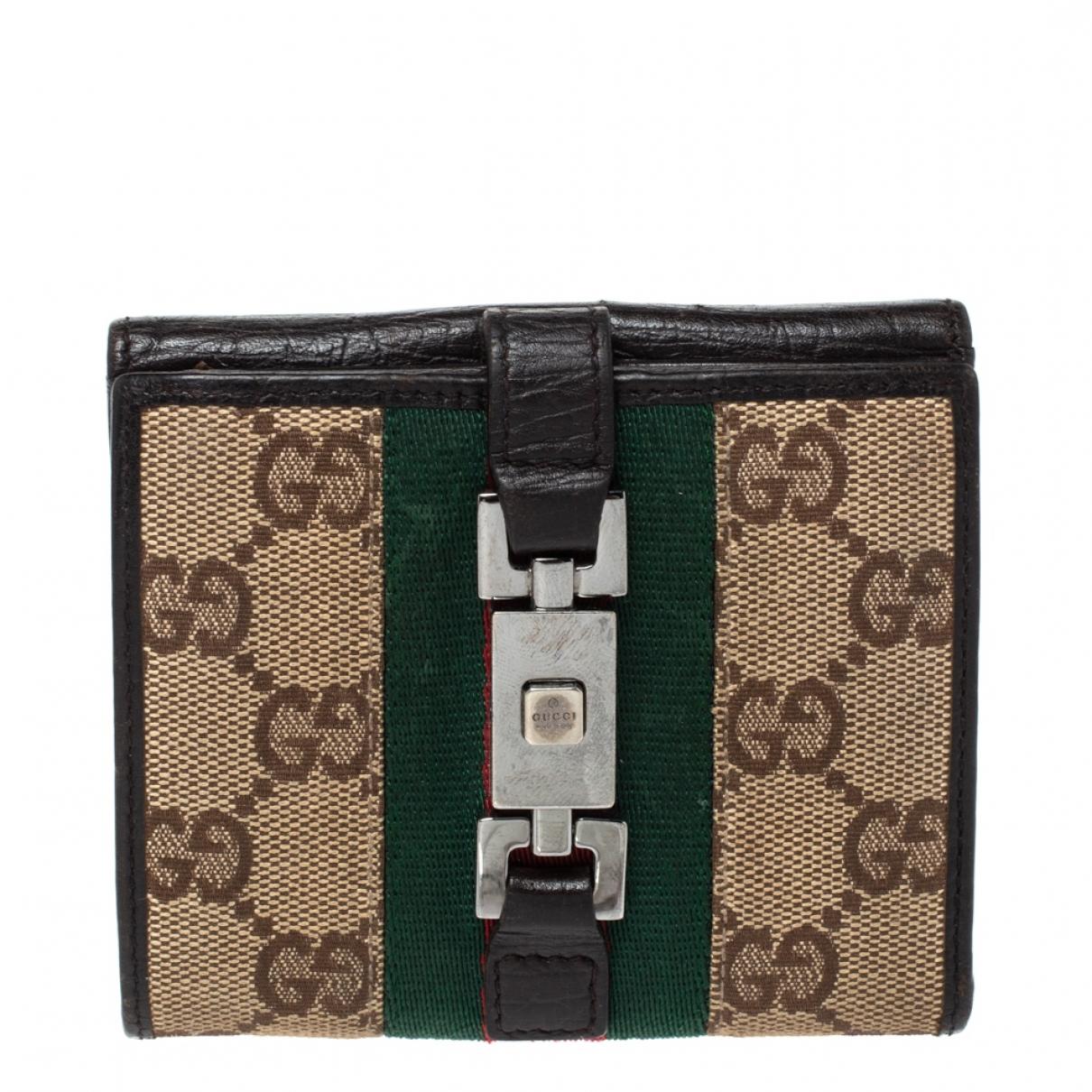 Gucci \N Portemonnaie in  Beige Leder