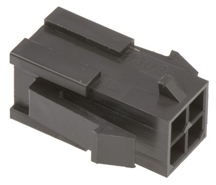 Molex , Micro-Fit 3.0 Male Connector Housing, 3mm Pitch, 4 Way, 2 Row (5)