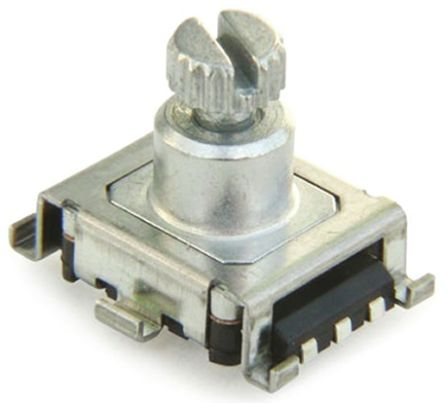 Bourns 15 Pulse Incremental Mechanical Rotary Encoder with a 6 mm Knurl Shaft (Not Indexed), SMD