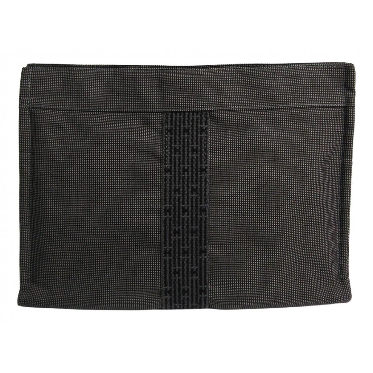 Hermès \N Black Cloth Clutch bag for Women \N
