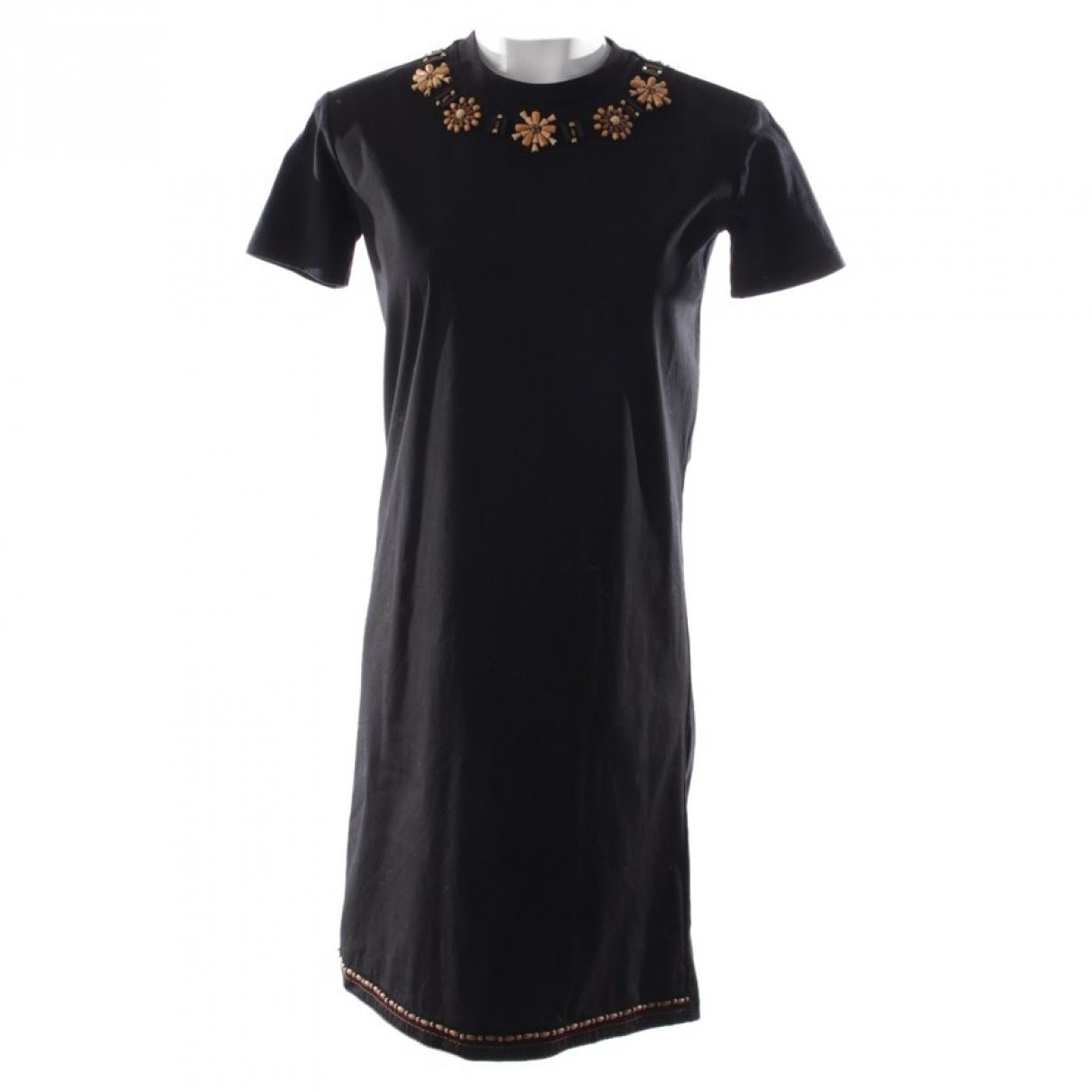 Prada - Robe   pour femme en coton - noir