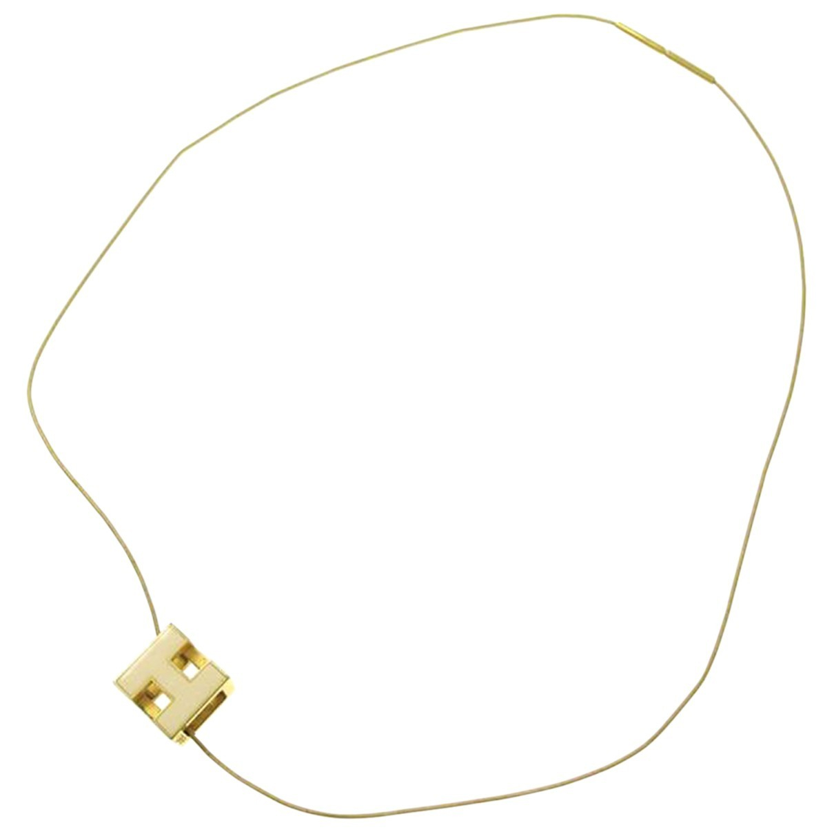 Hermès N Gold Metal necklace for Women N
