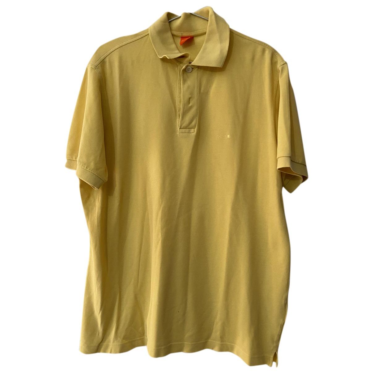 Boss - Polos   pour homme en coton - jaune