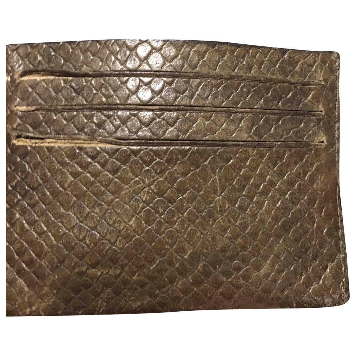 Givenchy \N Brown Python Purses, wallet & cases for Women \N