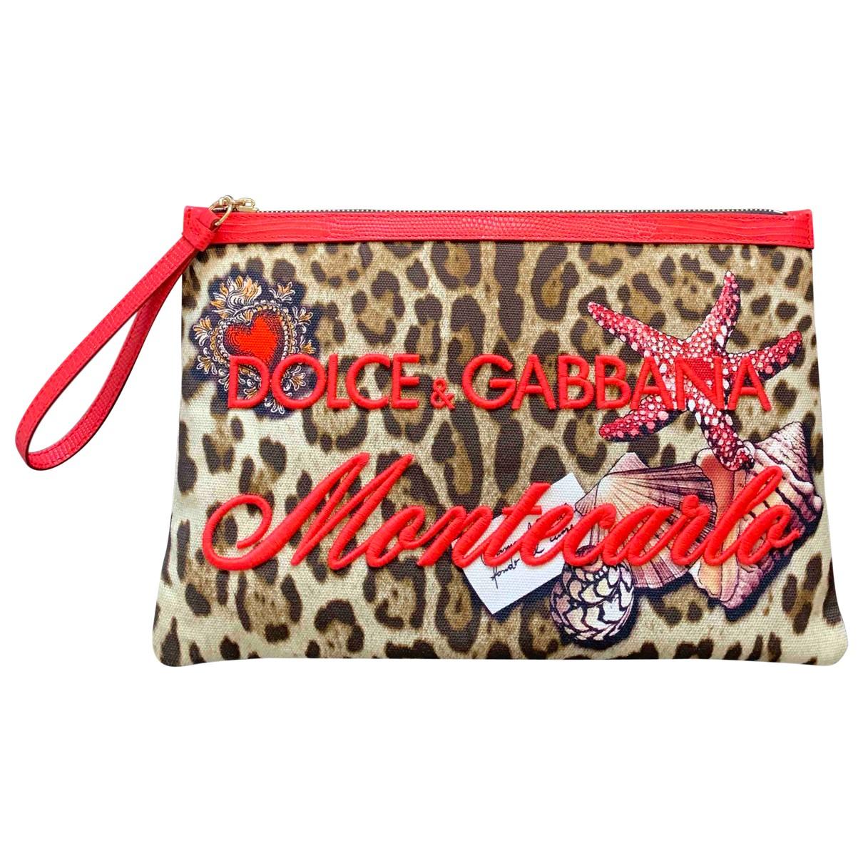 Dolce & Gabbana - Pochette   pour femme en coton - marron