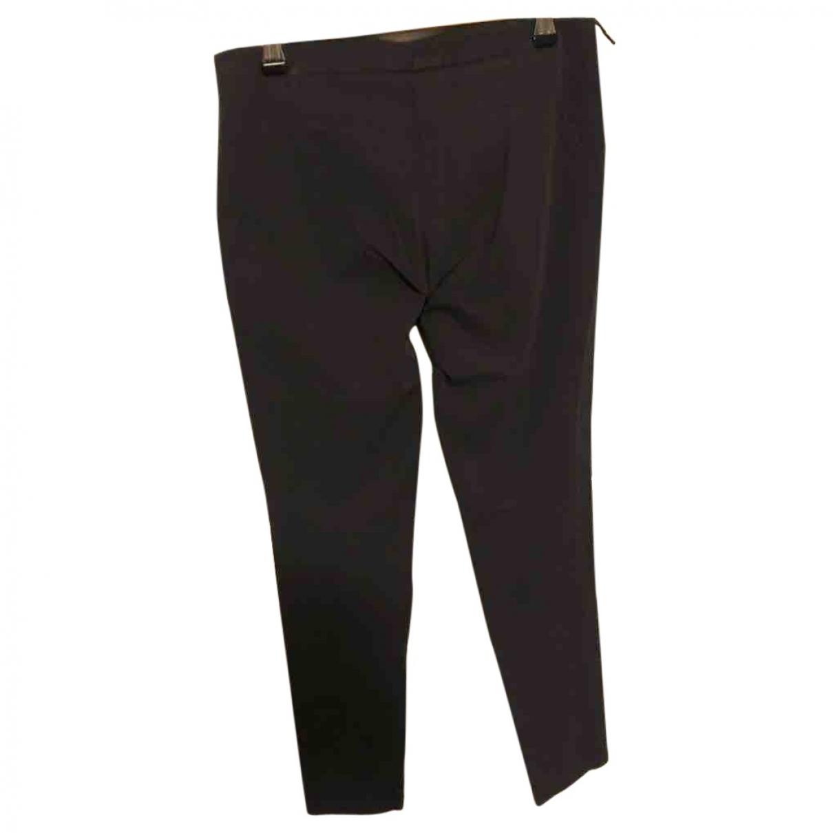 Brunello Cucinelli \N Navy Cotton Trousers for Women 40 IT