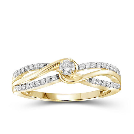 1/4 CT. T.W. Diamond 10K Yellow Gold Ring, 8 , No Color Family