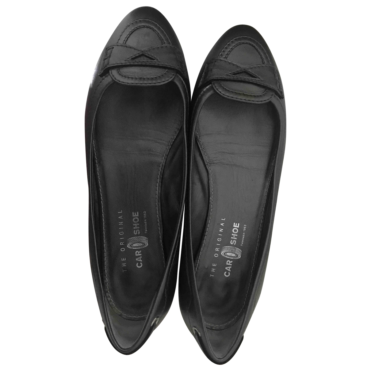 Carshoe \N Anthracite Leather Flats for Women 38 EU