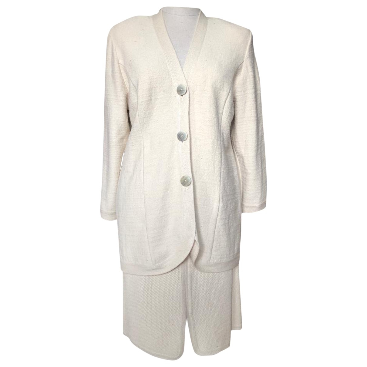 Non Signé / Unsigned \N Beige Silk jacket for Women 3 0-5
