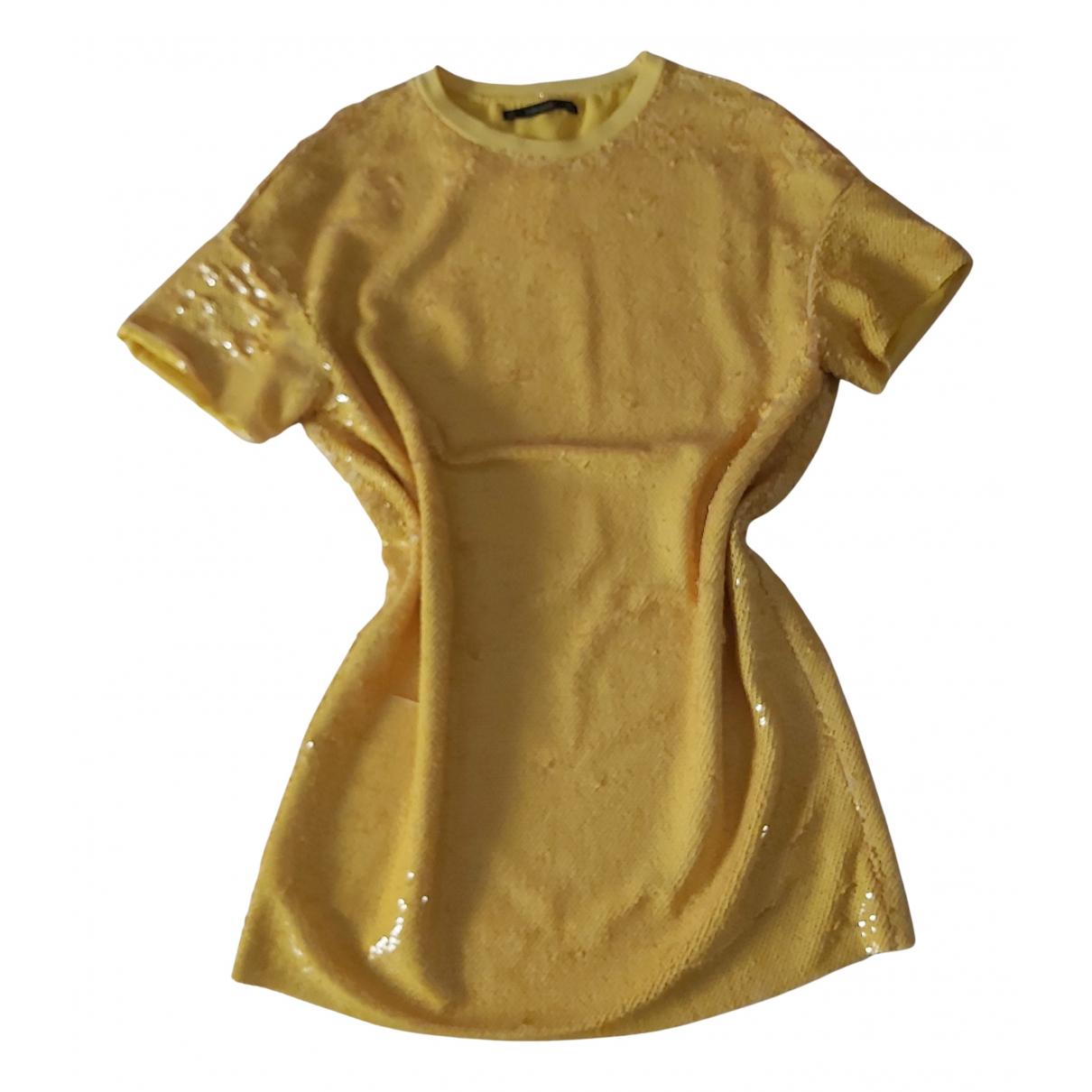 Zara - Robe   pour femme en a paillettes - jaune