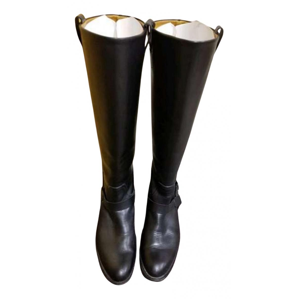 Botas altas de Cuero Ralph Lauren Collection