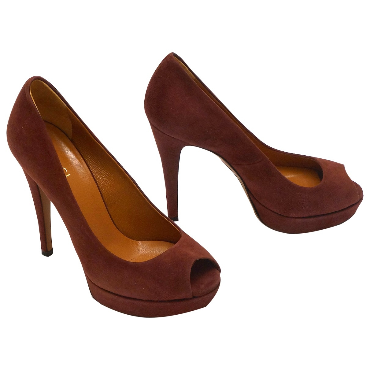 Gucci \N Burgundy Suede Heels for Women 35.5 EU