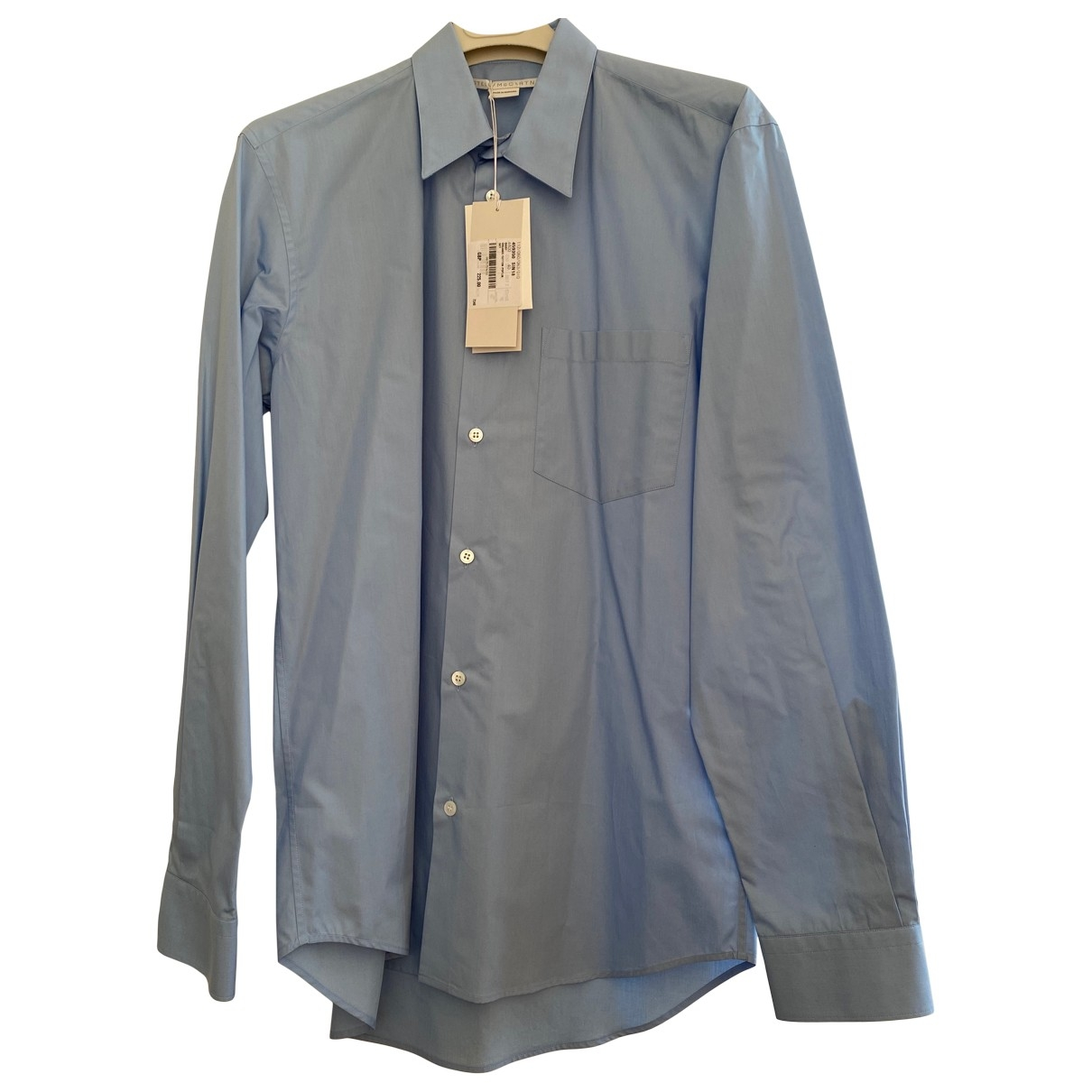 Stella Mccartney \N Blue Cotton Shirts for Men 40 EU (tour de cou / collar)