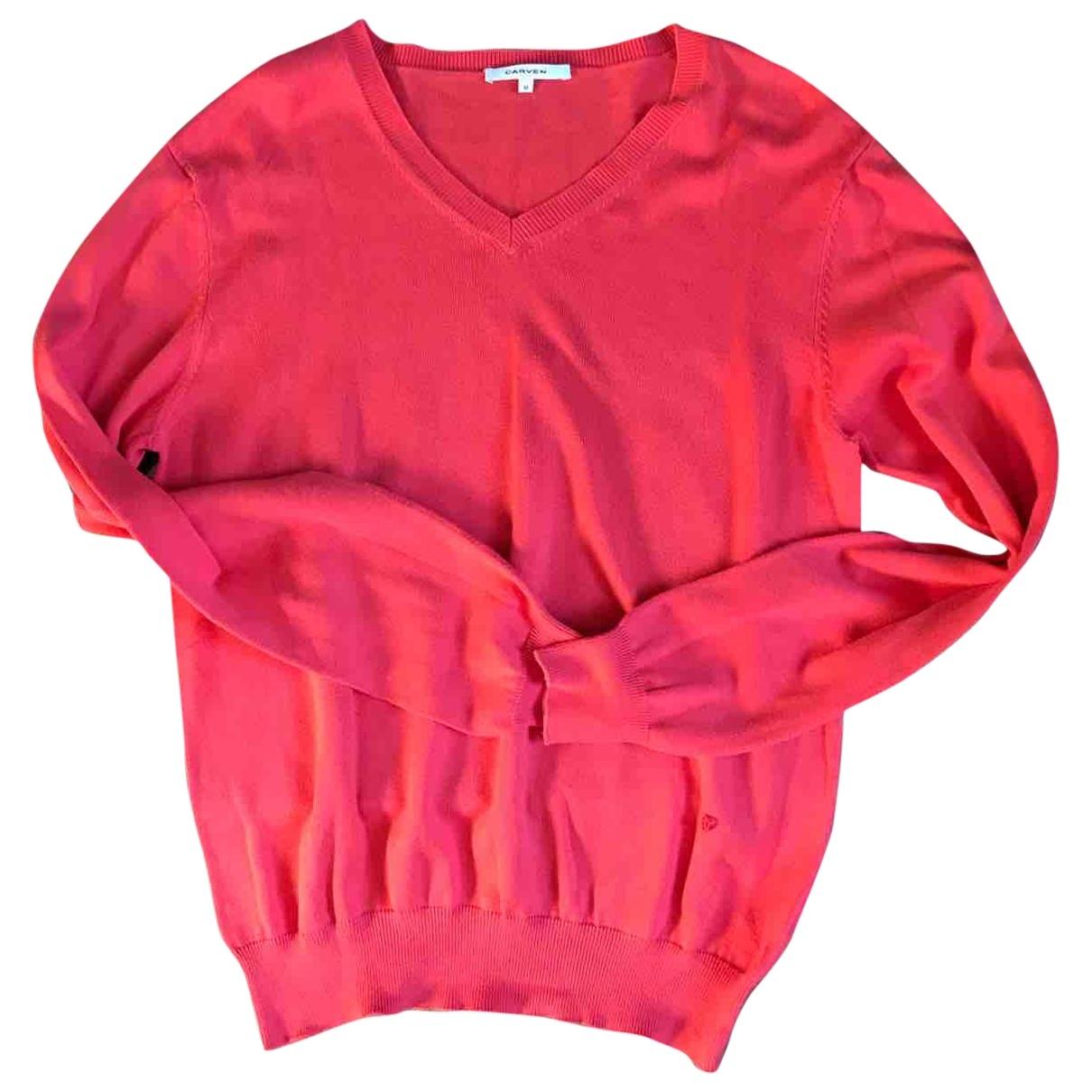 Carven \N Pullover.Westen.Sweatshirts  in  Rosa Baumwolle