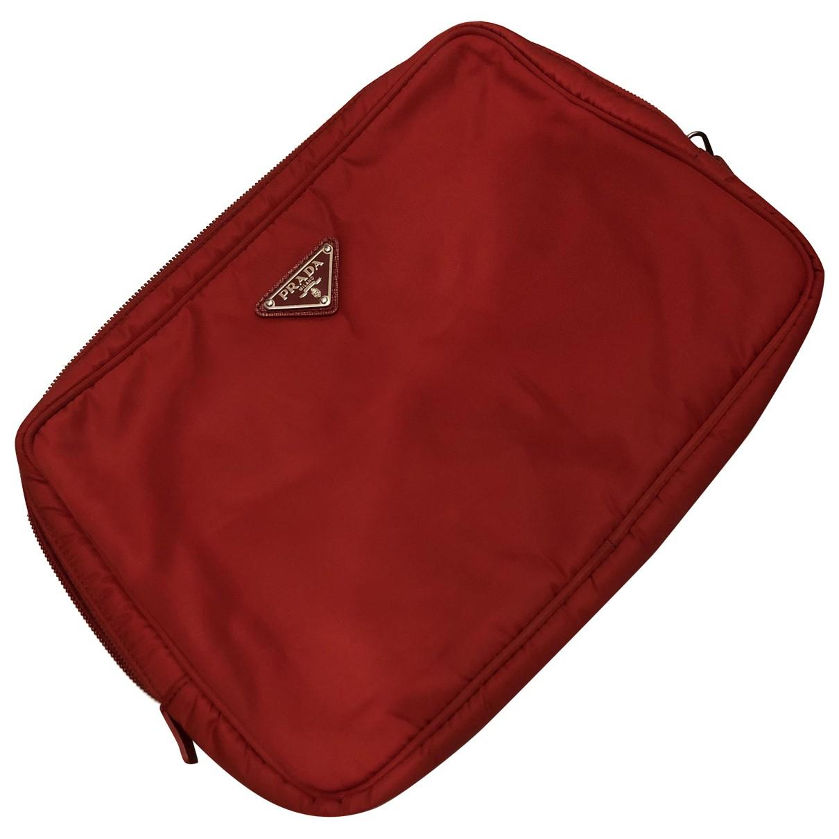 Prada Tessuto  Red Purses, wallet & cases for Women \N