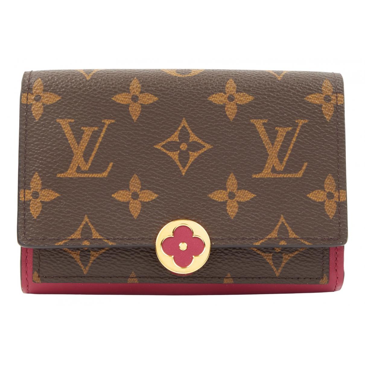 Louis Vuitton - Petite maroquinerie Flore pour femme en toile - marron