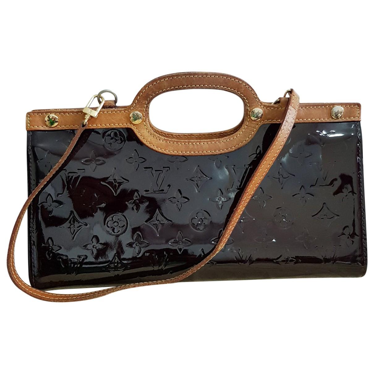 Louis Vuitton Roxbury Handtasche in  Lila Lackleder