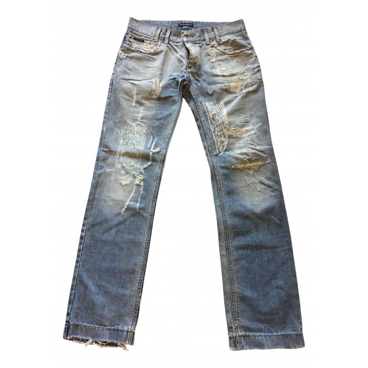 Dolce & Gabbana N Blue Cotton Jeans for Men 36 US