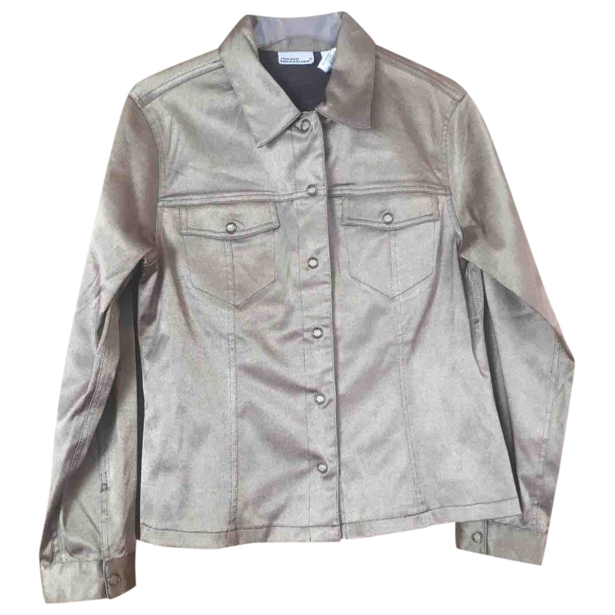 Non Signe / Unsigned \N Jacke in  Silber Denim - Jeans
