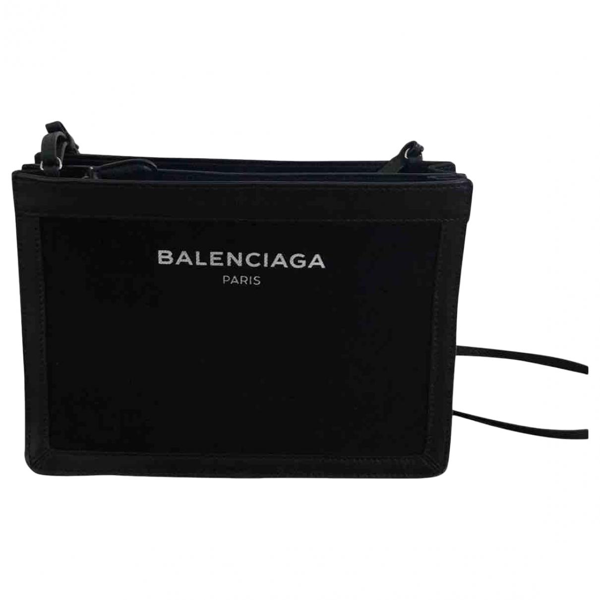 Balenciaga - Sac a main   pour femme en denim - noir