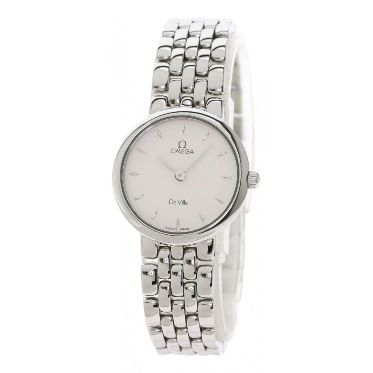 Omega De Ville  Uhr in  Silber Stahl