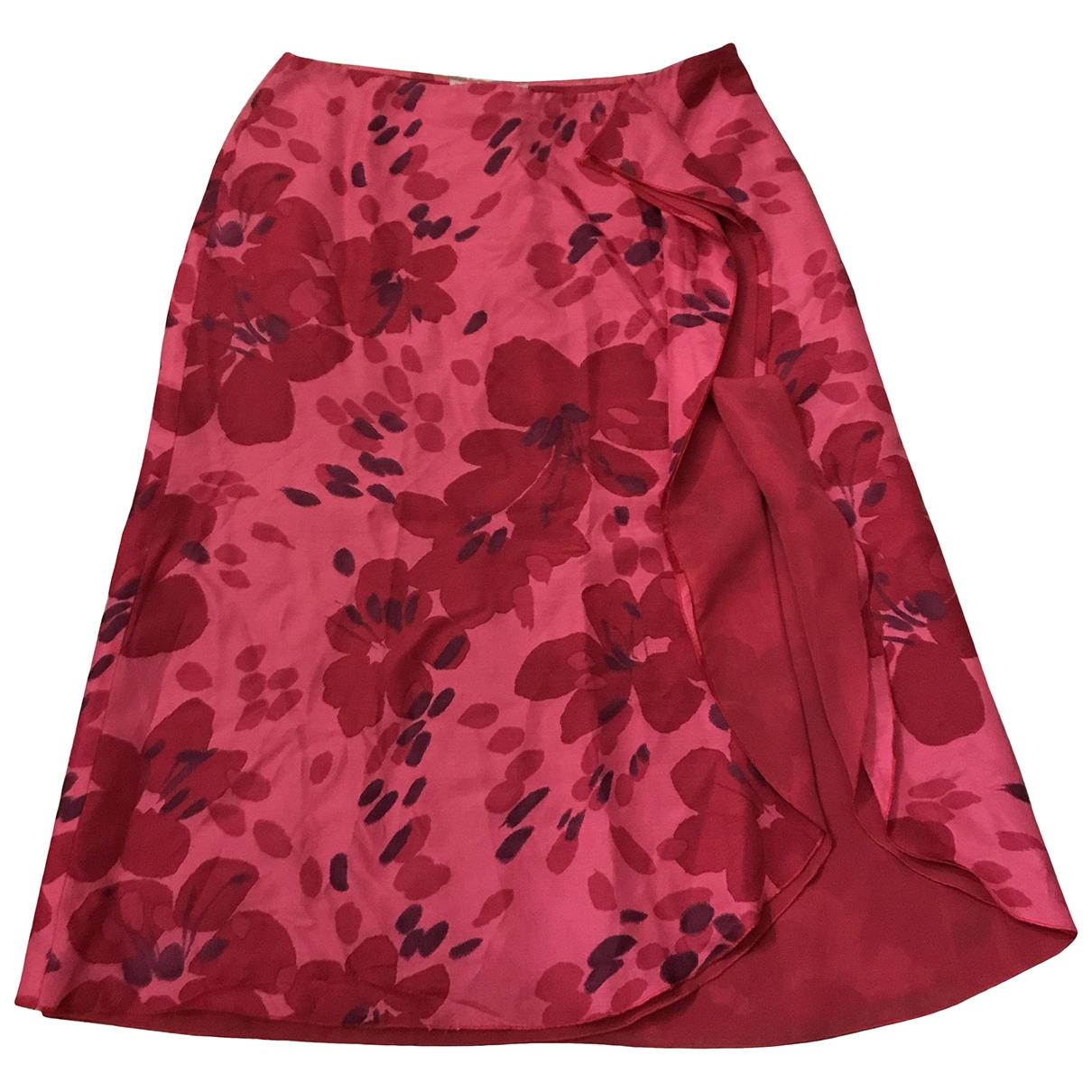 Emporio Armani - Jupe   pour femme en soie - rouge