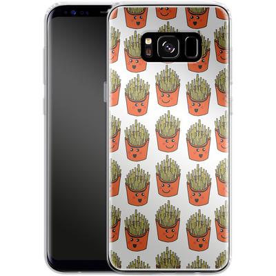 Samsung Galaxy S8 Silikon Handyhuelle - Happy Fries von caseable Designs