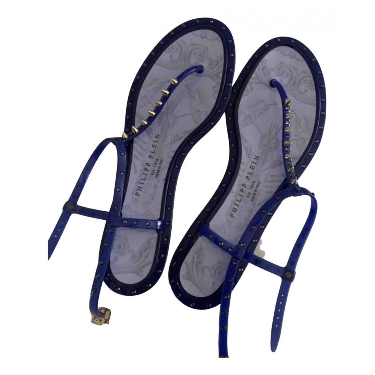 Philipp Plein - Sandales   pour femme - bleu