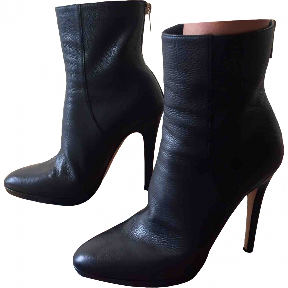Jimmy Choo \N Black Leather Ankle boots for Women 37 EU