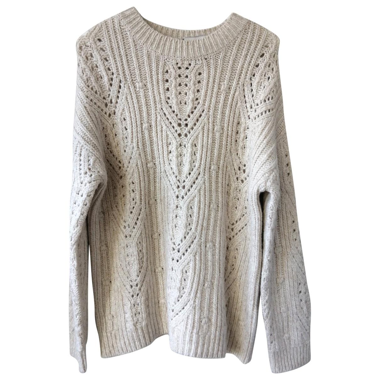 Massimo Dutti \N Beige Wool Knitwear for Women L International