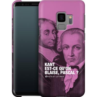 Samsung Galaxy S9 Smartphone Huelle - Kant Blaise Et Pascal von Fists Et Lettres