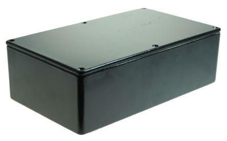 CAMDENBOSS 5000, Black Die Cast Aluminium Enclosure, IP54, Shielded, 192 x 112 x 61mm