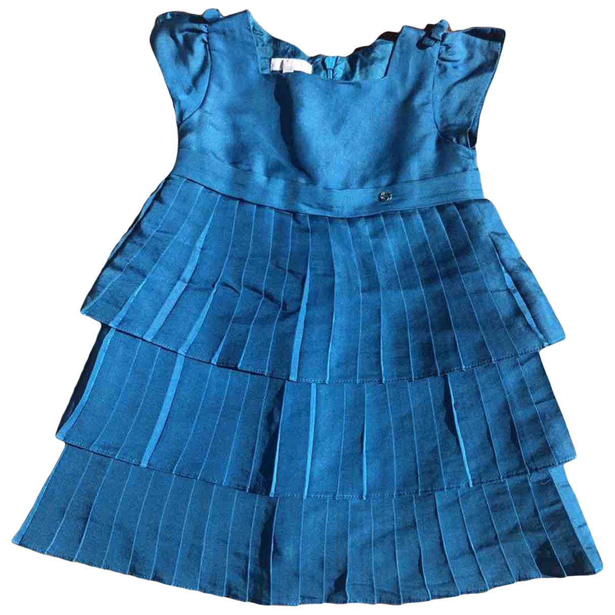 Gucci \N Kleid in  Blau Seide