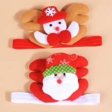 2 piezas diadema de bebe con diseño de muñeca de nieve