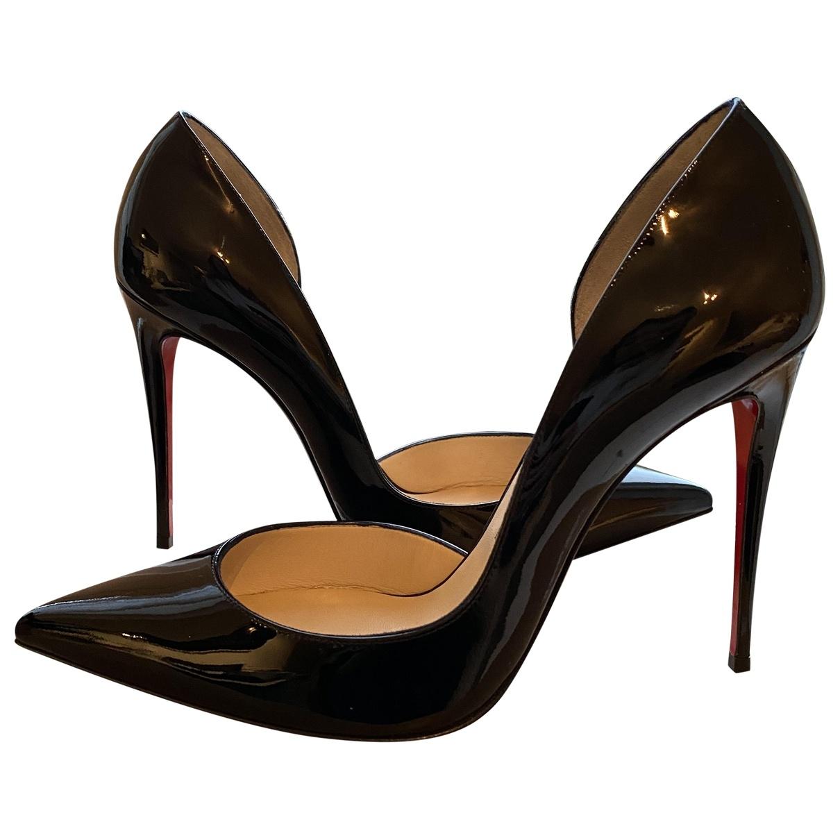 Christian Louboutin Iriza Black Patent leather Heels for Women 40 EU