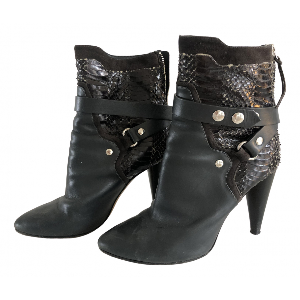Isabel Marant N Grey Leather Ankle boots for Women 39 EU