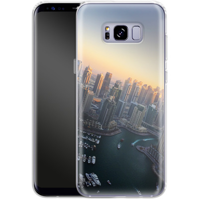 Samsung Galaxy S8 Plus Silikon Handyhuelle - Dubai Skyline von Omid Scheybani