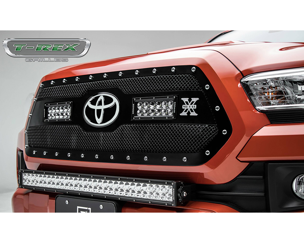 2018-2019 Tacoma Torch Grille, Black, 1 Pc, Insert, Chrome Studs, Incl. (2) 6