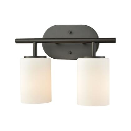 57141/2 Pemlico 2-Light Vanity in Oil Rubbed Bronze with White
