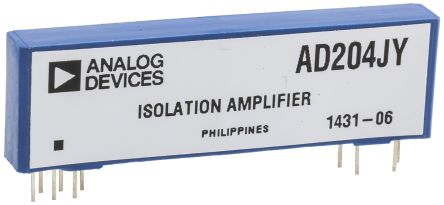 Analog Devices AD204JY , Isolation Amplifier, 11-Pin SIP