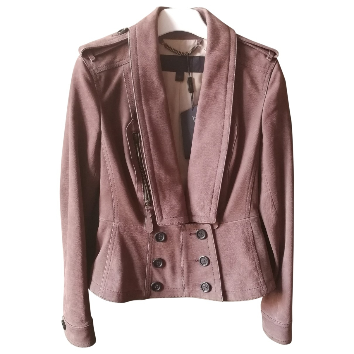 Burberry \N Brown Leather Leather jacket for Women 40 IT