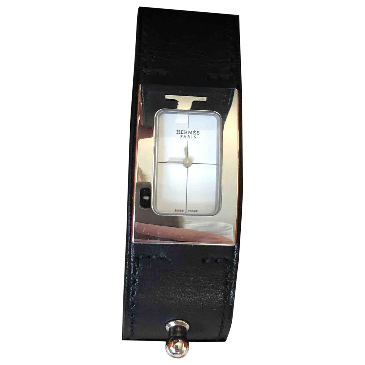 Hermes \N Uhr in  Schwarz Stahl