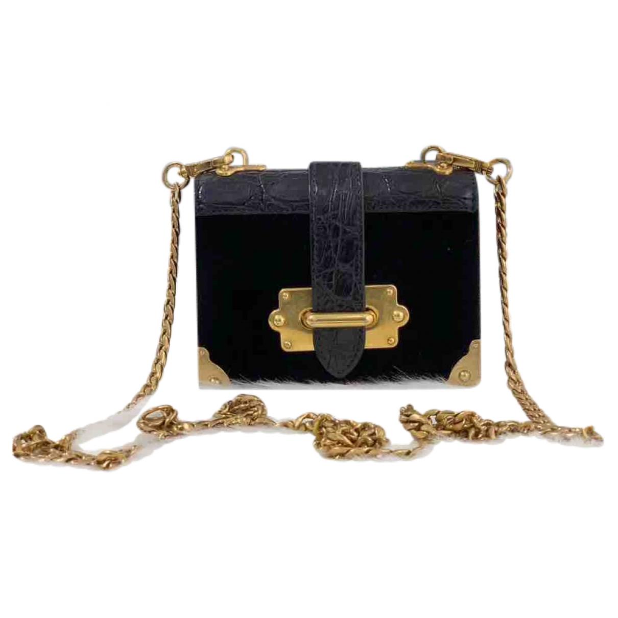 Prada Cahier Black Crocodile handbag for Women \N